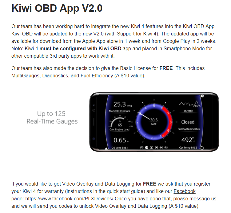 Kiwi 4 OBD2 adapter is on the way | Bluetooth OBD II Adapter