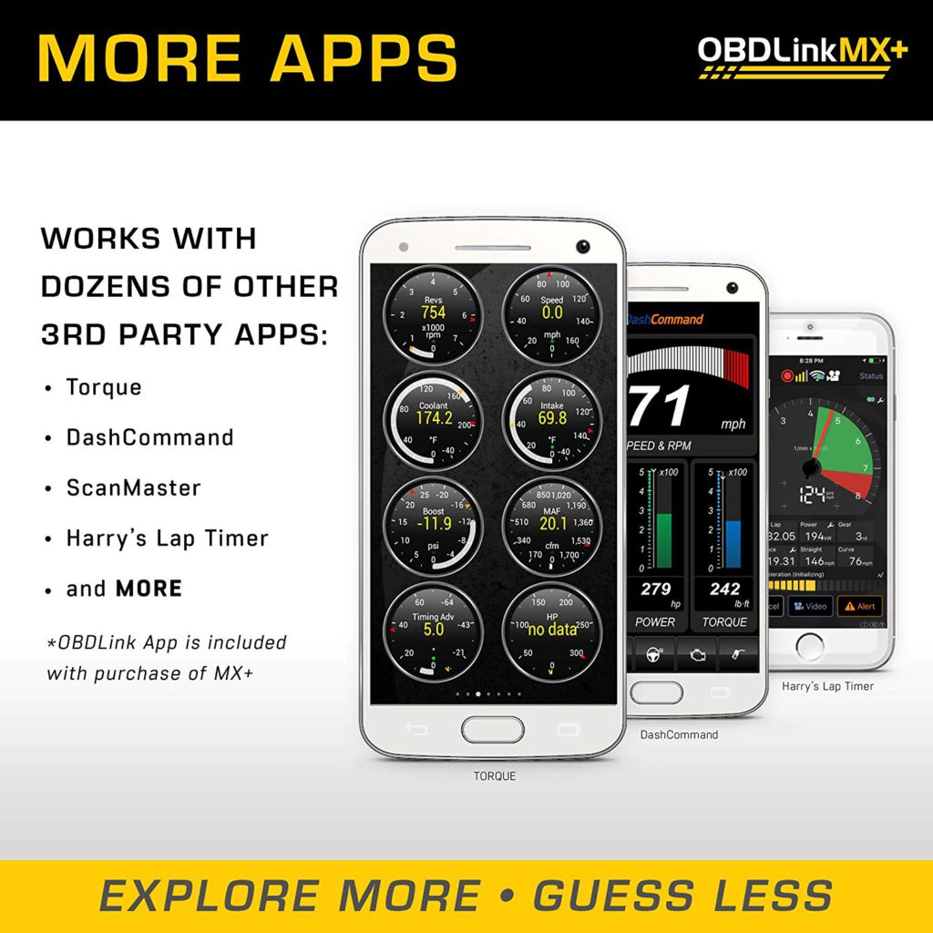 image of obdlink mx+ compatible with third-party apps