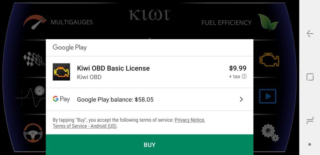 image of kiwi app home screen